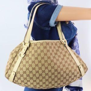 💎✨Authentic✨💎GUCCI Jacquard Leather Shoulder Bag